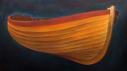 'Small yellow boat' by James Dodds, with a pre-sale estimate of 2,000-3,000, part of the Archant art