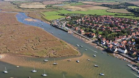 An aerial photo of Wells-next-the-Sea in Norfolk, taken from a drone by Mark Frary. Picture: Mark Fr