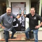 Charlie Hodson (left) and David Holliday have launched the special Time to Talk beer to mark World M