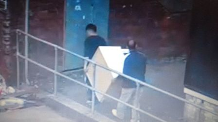 Suspected fly-tippers were caught on CCTV dumping rubbish on Pine Close, Thetford. Picture: Brecklan