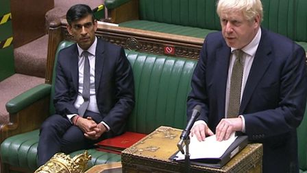 Prime Minister Boris Johnson making a statement in the House of Commons. Picture: PA Wire
