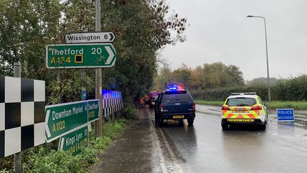 Two people died after a crash at Stradsett near Downham Market on Wednesday, October 21 Pictu