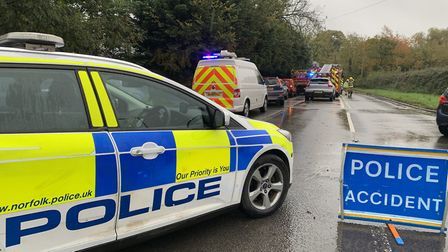 Emergency services were called to the scene of a serious crash at Stradsett near Downham Market on W