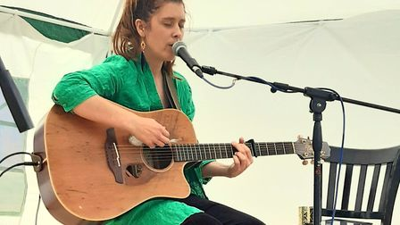 Yve Mary B playing a solo set at a previous street food fair Picture: Contributed