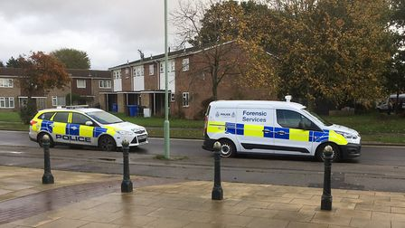 Police and scenes of crime officers on Weston Road, Lowestoft after a woman was arrested on suspicio