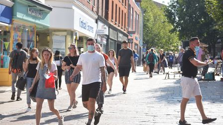 Public Health England data shows the coronavirus infection rate is continuing to grow in Norwich. Pi