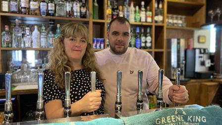 Former owners of The George Pub in Dereham Rebecca and Gareth Williams. Picture: Abigail Nicholson