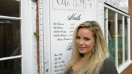Kay Willmott, who owns Elle Belle's Beauty Studio in Dereham, is 31 weeks pregnant with her third ch