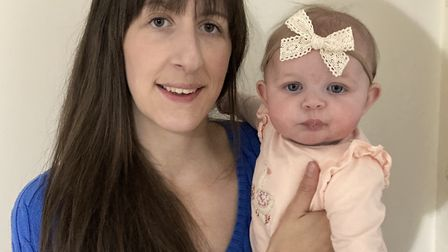 Emma Hald, from Halesworth, had her little girl Millie in June and praised the care at the James Pag