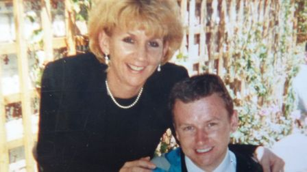 Happier days - Jacqui Page with son Simon at his graduation.