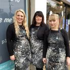 Pam Perry and Amanda Kane, owners of Hilary and Alice, with their creative assistant, Mary Lambert,