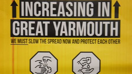 The Great Yarmouth Borough Council poster as the council and environmental health lead an interventi