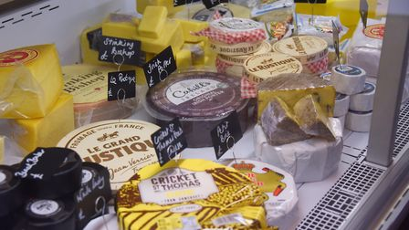 Some of the cheeses at Hodson & Co Cheese Room with Delicatessen at Aylsham. Picture: DENISE BRADLE