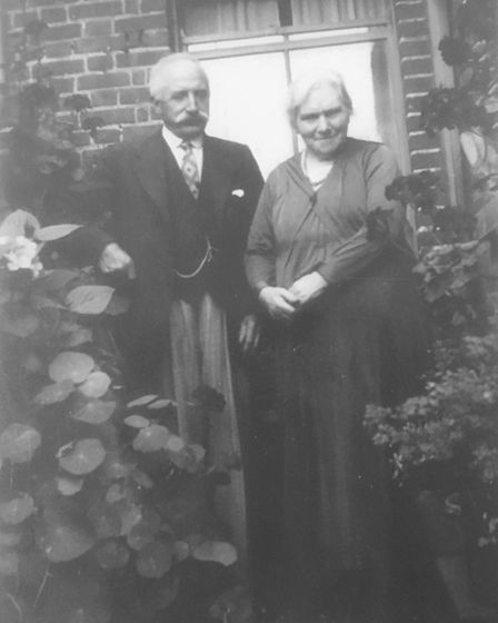 Eva' Browne's parents who lived with 10 children at 72 Glebe Road in Norwich. Picture: Ruth Brown