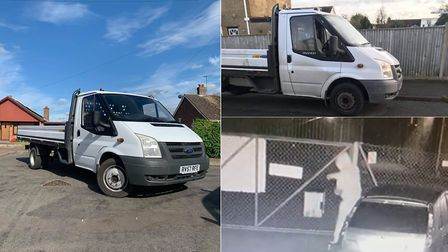 A delivery man has made a desperate plea for the return of his van after thieves were caught on came