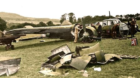 The Dornier bomber was exhibited on a tour of the country to boost morale. Picture: Courtesy of Bob