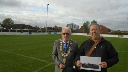 The day Lowestoft Town FC had a Dornier on the halfway line was recalled at a special event. Mayor o