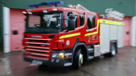 Library picture of a fire engine.