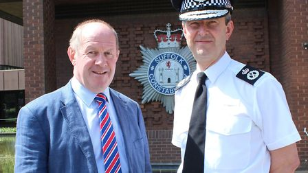 Tim Passmore and Steve Jupp. Picture: Office of the PCC