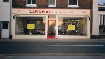 Lawnwise and Leisure at Oak Street just before it opened in 1990. Picture: Lawnwise and Leisure