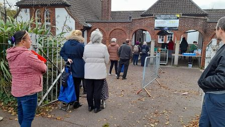 People queue up at the Phoenix Centre in Norwich. Pic: supplied