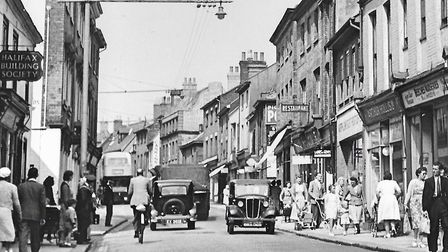 Lowestoft's High Street in the early 1950s, near to the Crown Hotel. Picture: Jack Rose Collection