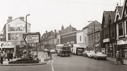 The Triangle Market and High Street area of Lowestoft in the late 1970s. Picture: Jack Rose Collecti