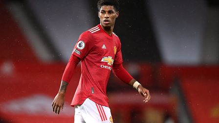 Manchester United's Marcus Rashford during the Premier League match at Old Trafford, Manchester. Pic