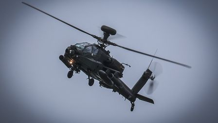 Army Apaches where recently spotted by the RAF Sculthorpe heritage centre in Wicken Green. Picture:
