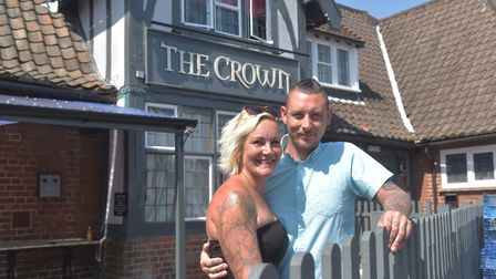 The Crown pub, in Costessey, managers Trina Lake and Bradley Richards. Picture: BRITTANY WOODMAN
