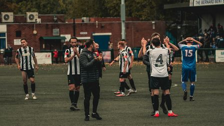 Delight as Dereham clinch a late FA Trophy win at Sutton Colsfield Picture: Robert Groom