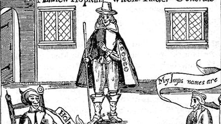 An anonymous pamphlet documnets that 20 witches were hanged at Norwich by Matthew Hopkins. Source: W