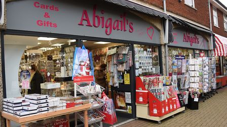 Abigail's card and gift shop in Dereham. Picture: DENISE BRADLEY