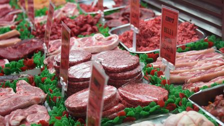 Meat on display at Terry's Butchers in Dereham. Picture: DENISE BRADLEY