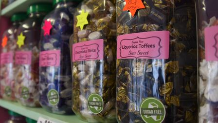 Old-fashioned style jars of sweet favourites at Sew Sweet in Fakenham. Picture: DENISE BRADLEY