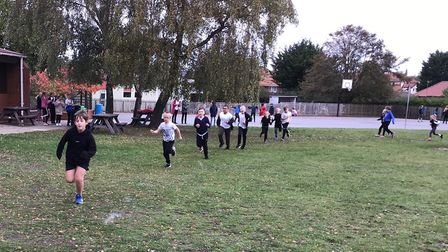 Cross country at Reydon Primary. Picture: North Suffolk Sport and Health Partnership