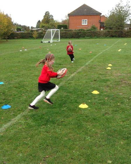 Rugby at Brampton Primary. Picture: North Suffolk Sport and Health Partnership