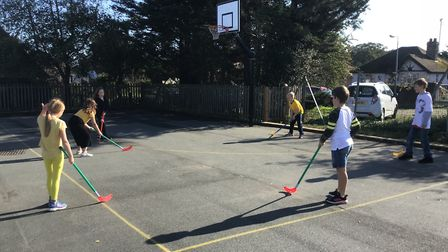 Unihoc at Reydon Primary. Picture: North Suffolk Sport and Health Partnership
