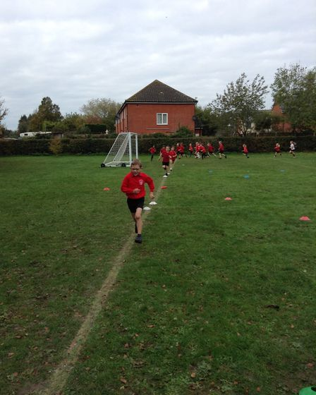 Cross country at Brampton Primary. Picture: North Suffolk Sport and Health Partnership