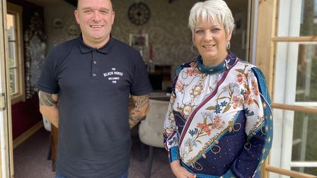 Terry and Pam Gillman, owners of the Black Horse pub in Thetford, have invested in four log cabins.