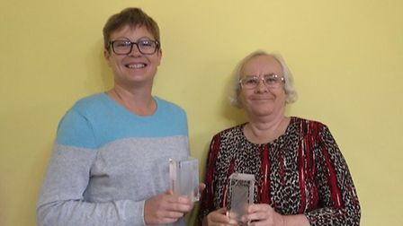 Pauline Codman (right) from Fakenham along with her daughter, Katrina McDuff (right) won the coveted
