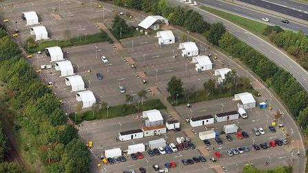Aerial view of Postwick testing centre. Picture: Mike Page