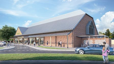An architect's impression of what the new Budgens store in Holt will look like. Picture: Corstorphin