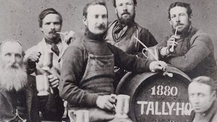 Ernest Adams (lower right). Tally Ho was first brewed in 1880. Picture: Courtesy of Adnams