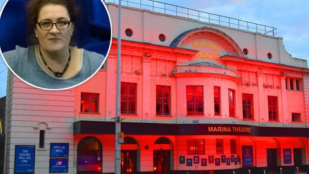 The Marina Theatre in Lowestoft. Inset: Emma Butler Smith. Picture: Mick Howes/Marina Theatre