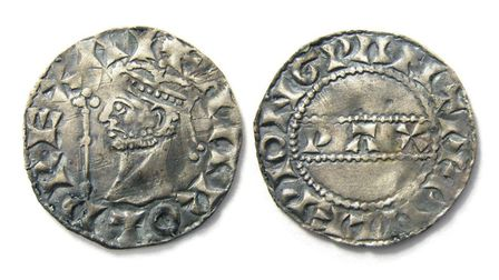 The Harold II silver penny found by Reece Pickering in Norfolk. Picture: Hansons Auctioneers.