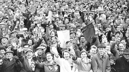 On the Ball City! The ever-faithful Canaries fans back in the 1950s. Do you recognise anyone? Photo: