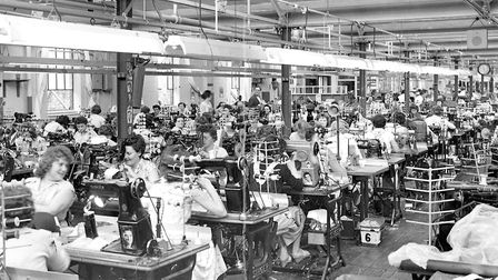 The Closing Room at the big Sexton, Son & Everard shoe factory in 1959. Photo: Archant Library