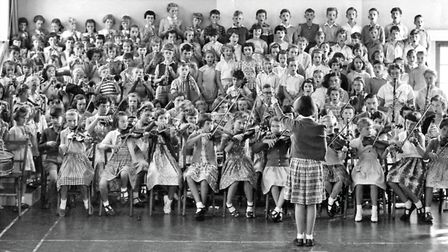 This wonderful photograph of the orchestra at Colman Road School, Norwich, in 1958. Photo: Contribut