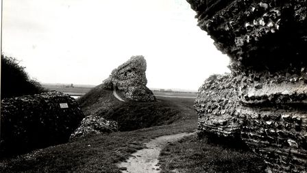 Does a werewolf stalk the ruins of Burgh Castle? Picture: Archant Library